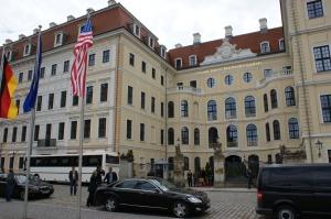 Hier im Taschenberg Palais wird Obama heute schlafen.