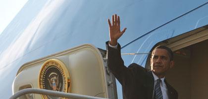 Obama heute in Saudi Arabien - morgen wird er ab 21 Uhr in Dresden-Klotzsche erwartet.